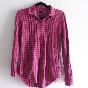 Fox pink women's flannel blouse size small